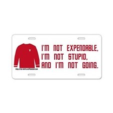 Red Shirt Society Aluminum License Plate