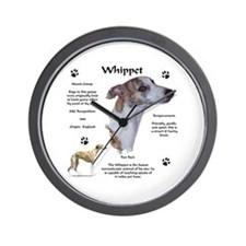 Whippet 1 Wall Clock
