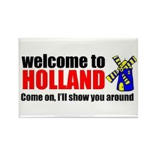 Welcome to Holland Rectangle Magnet