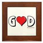 God is Love Framed Tile