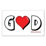 God is Love Rectangle Sticker