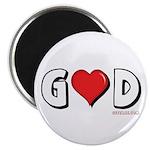 """God is Love 2.25"""" Magnet (100 pack)"""