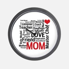 24 Hour Mom Mother's Day Wall Clock