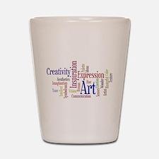 Artist Creative Inspiration Shot Glass