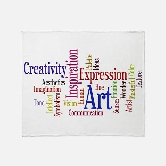 Artist Creative Inspiration Throw Blanket