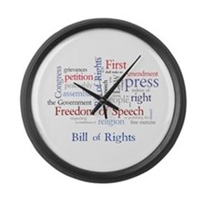Freedom of Speech First Amendment Large Wall Clock