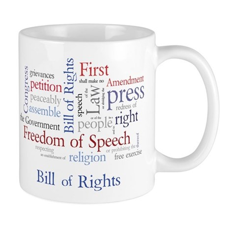 Freedom of Speech First Amendment Mug