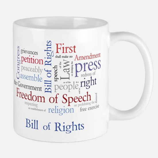 Freedom of Speech First Amendment Mug