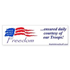 """Freedom Ensured"" Bumper Bumper Sticker"