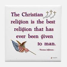 best religion Tile Coaster