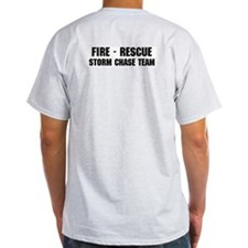 Fire - Rescue Storm Chase Spotter Ash Grey T-Shirt