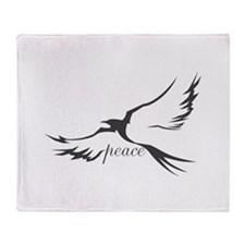 Dove of Peace Throw Blanket