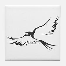 Dove of Peace Tile Coaster