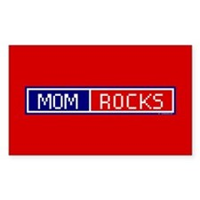 Mom Rocks Rectangle Decal