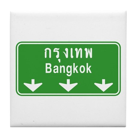 Bangkok Ahead Thai Sign Tile Coaster