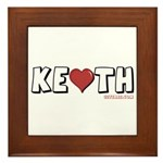 I Heart (Love) Keith Framed Tile