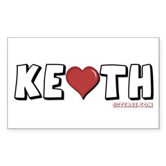 I Heart (Love) Keith Rectangle Decal