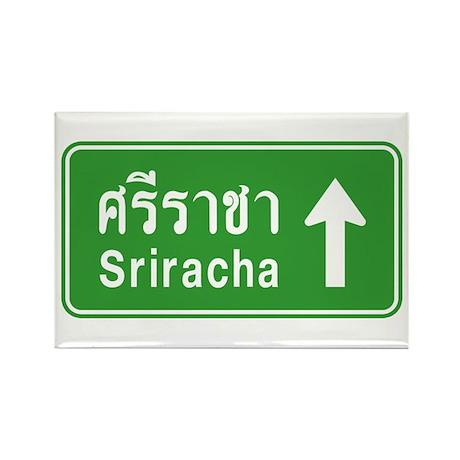 Sriracha Highway Sign Rectangle Magnet