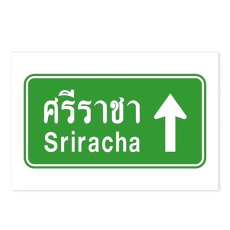 Sriracha Highway Sign Postcards (Package of 8)