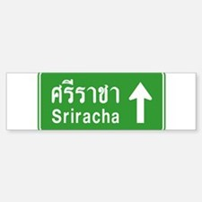 Sriracha Highway Sign Bumper Bumper Sticker