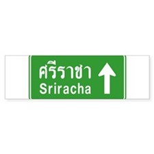 Sriracha Highway Sign Bumper Sticker