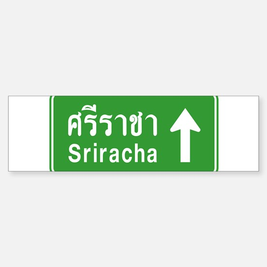 Sriracha Highway Sign Sticker (Bumper)