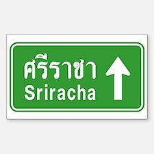 Sriracha Highway Sign Decal