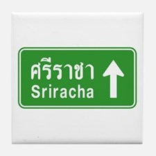 Sriracha Highway Sign Tile Coaster