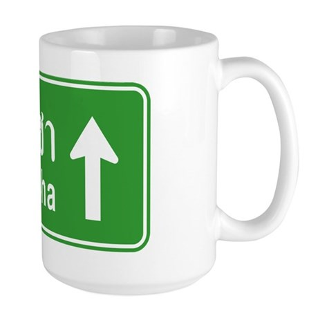 Sriracha Highway Sign Large Mug