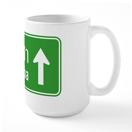 Sriracha Highway Sign Large Mug