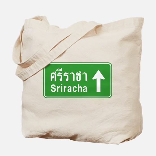 Sriracha Highway Sign Tote Bag