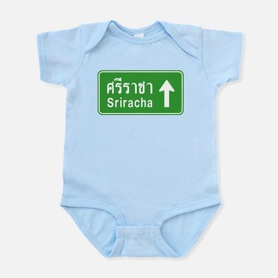 Sriracha Highway Sign Infant Bodysuit