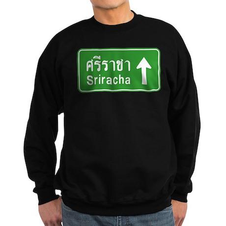 Sriracha Highway Sign Sweatshirt (dark)