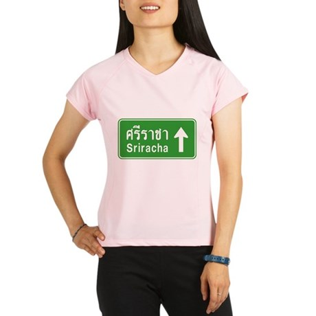 Sriracha Highway Sign Women's Sports T-Shirt