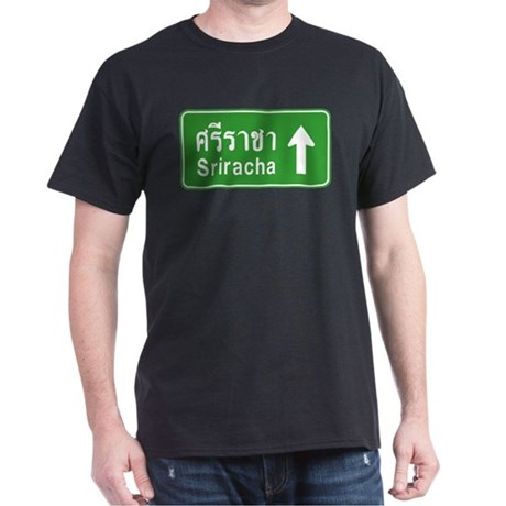 Sriracha Highway Sign Dark T-Shirt