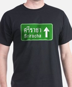 Sriracha Highway Sign T-Shirt