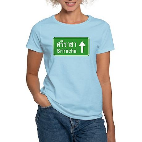 Sriracha Highway Sign Women's Light T-Shirt