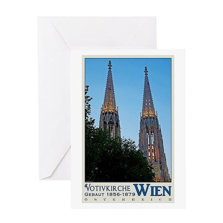 Vienna Votivkirche Greeting Card