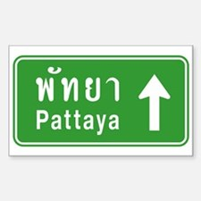 Pattaya Thailand Highway Sign Decal