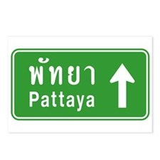 Pattaya Thailand Highway Sign Postcards (Package o
