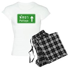 Pattaya Thailand Highway Sign Pajamas