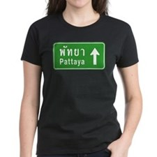 Pattaya Thailand Highway Sign Tee