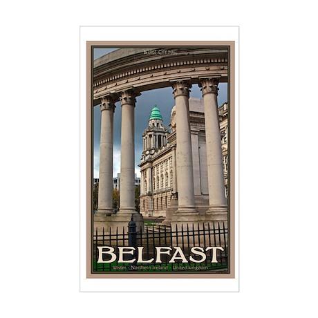 Belfast City Hall Sticker (Rectangle)