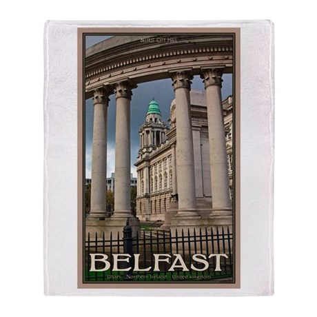 Belfast City Hall Throw Blanket