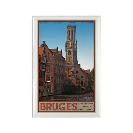 The Bruges Belfry Rectangle Magnet