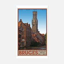 The Bruges Belfry Sticker (Rectangle)
