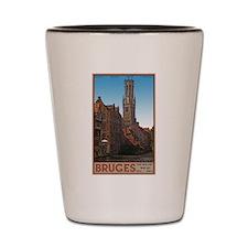 The Bruges Belfry Shot Glass