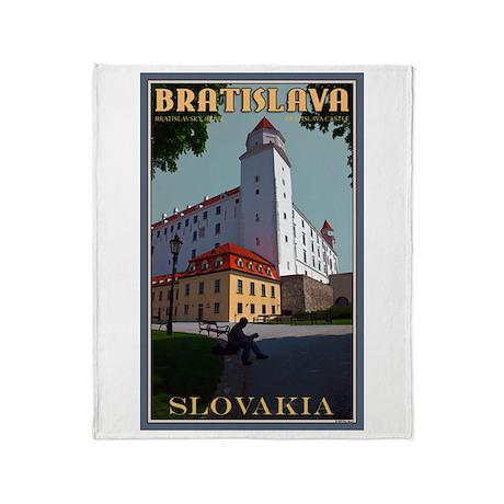 Bratislava Castle Throw Blanket