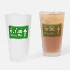 Chiang Mai Thailand Traffic Sign Drinking Glass