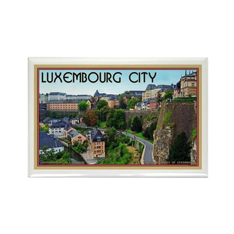 Luxembourg City Rectangle Magnet (10 pack)